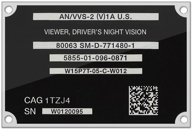 Photo Anodized Aluminum Plates A2b Tracking Solutions
