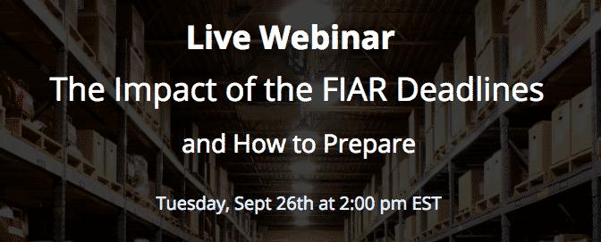 October 1st FIAR Deadline